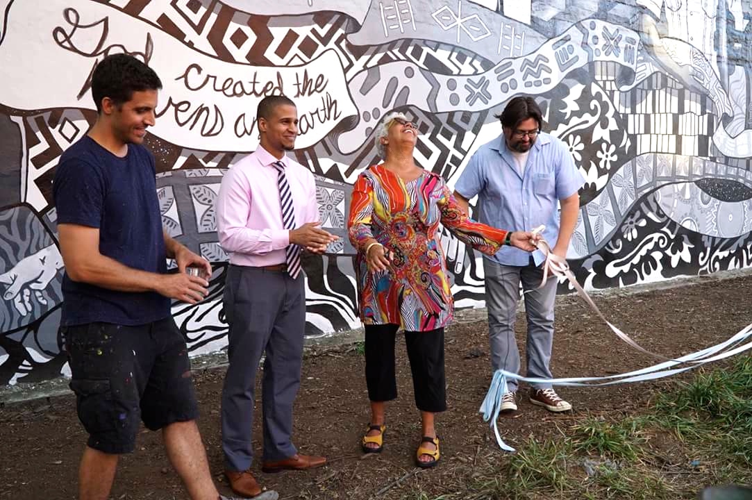 Celebrating Mural Completion with Partners Templo Biblico & Thrive Collective