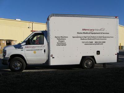 Vinyl Lettering Box Truck 1