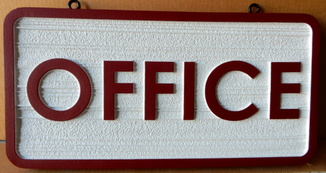 KA20518 - Carved Wood Look HDU Sign for Office