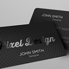 Laminated Silk Business Cards w/Spot UV one side