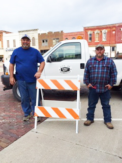 Village of Humboldt purchases safety barricades with Lean on LARM grant
