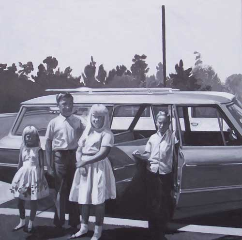 """The Grigsby Children"" - acrylic on canvas, 36"" x 36"""