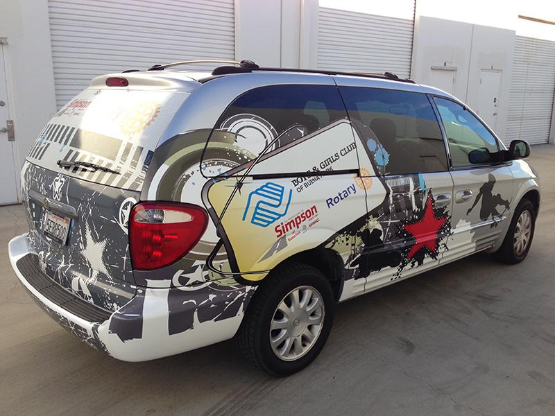vinyl van graphics mini van wrap vehicle graphics buena Tow Truck Graphic Design Tow Truck Logo Clip Art