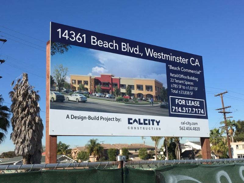 For Lease Signs for Construction Companies in Orange County CA