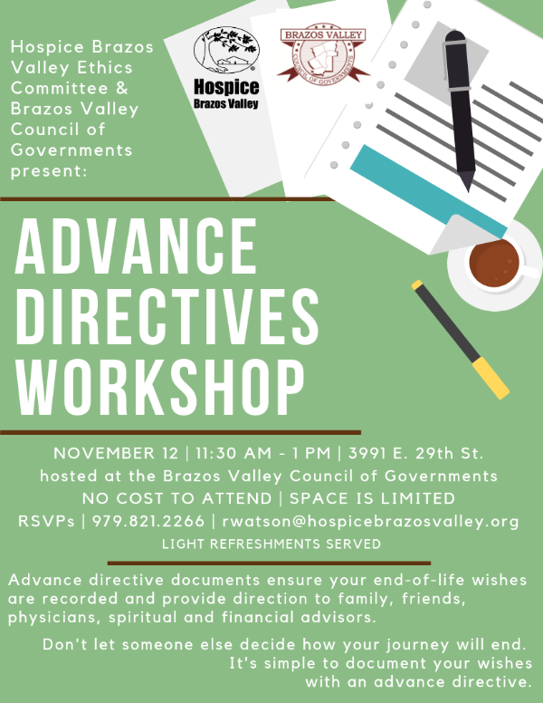 Advance Directive Workshop - Bryan