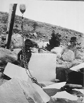 Crispin at his quarry in the canyon