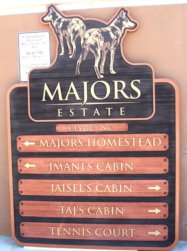 O24510 - Ranch/ Estate Wayfinding Sign