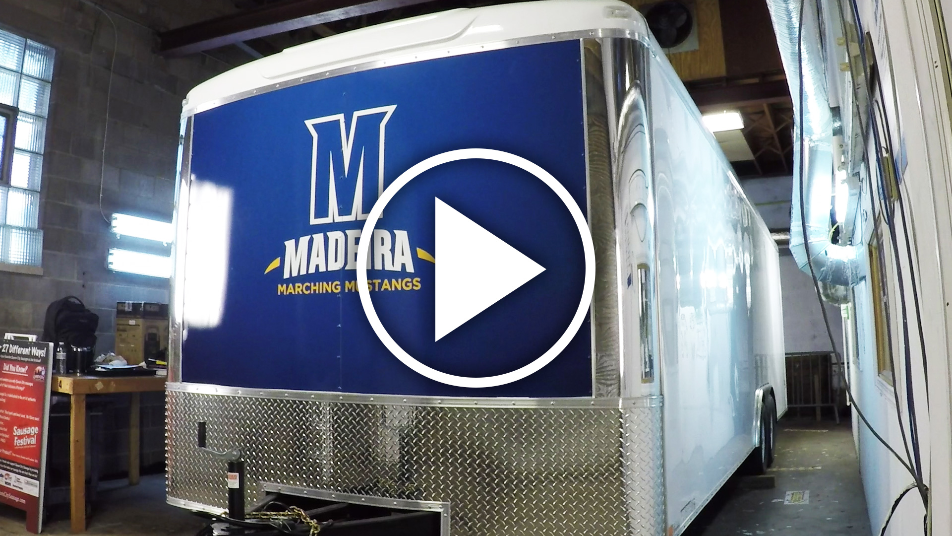 Madeira Marching Mustang Trailer Graphic Install