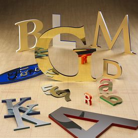 M5410 - Metal Laminate Stand-Off Letters