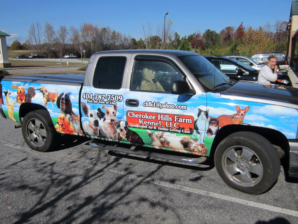 Cherokee Hills Farm Truck Wrap