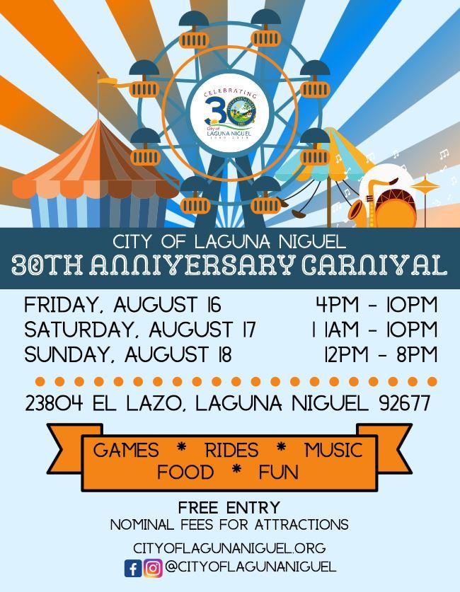 Laguna Niguel 30th Anniversary Carnival