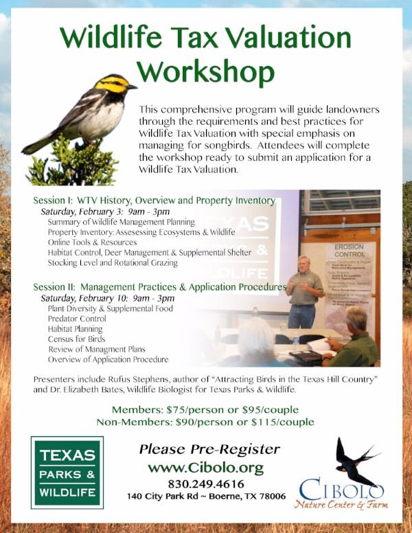 CNC: Wildlife Tax Valuation 2-part Workshop