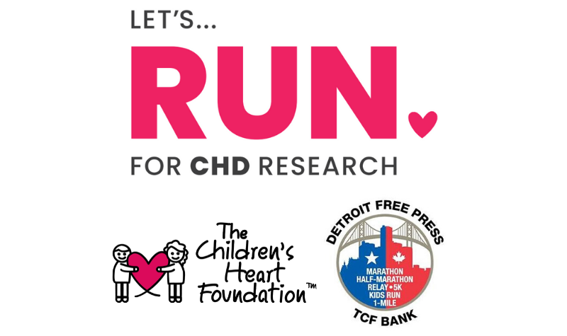 Apply to join The Children's Heart Foundation's team in the 2020 Detroit Free Press/TCF Bank Marathon