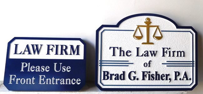 A10332 - Entry and Directional Law Firm  Signs