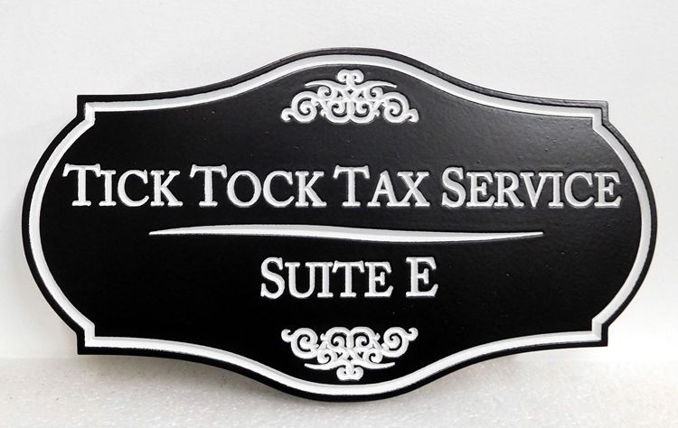 C12090 -  Engraved HDU Sign for Tax Services