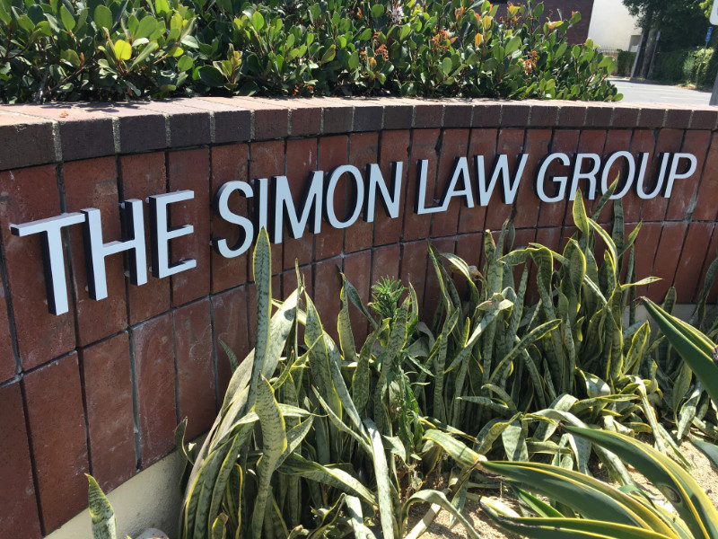Three dimensional lettering for monument signs in Santa Ana CA