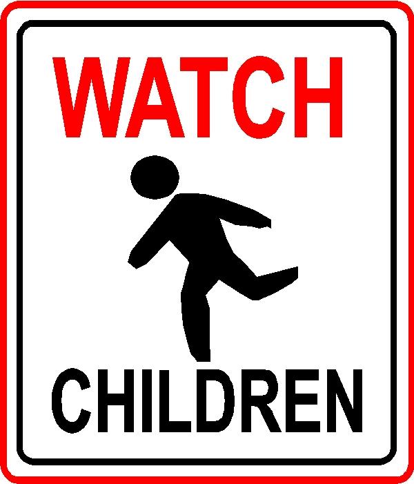 H17213 - Watch Children  Traffic Sign