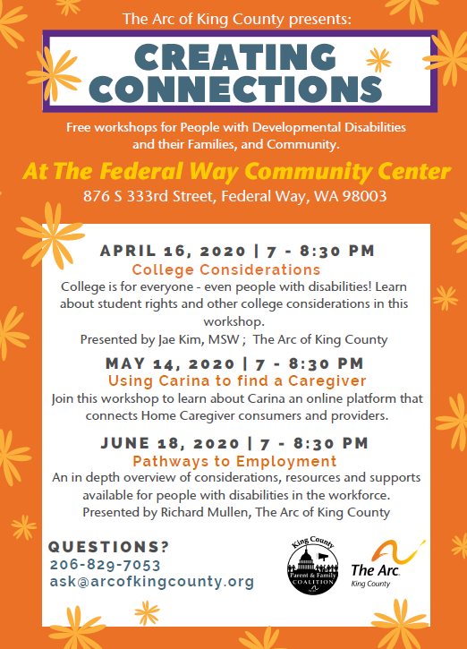 Cancelled: Creating Connections: Federal Way - College Considerations