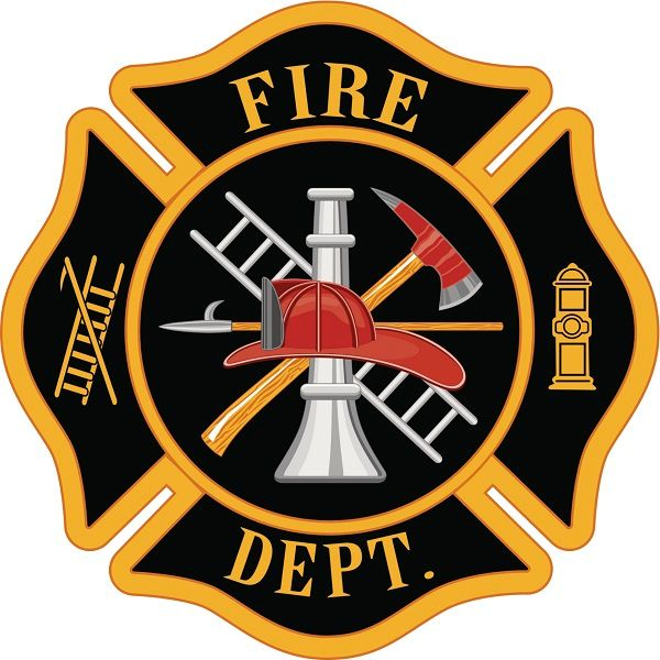 EA-4595 - Plaque of Fire Department Badge Mounted on Sintra Board