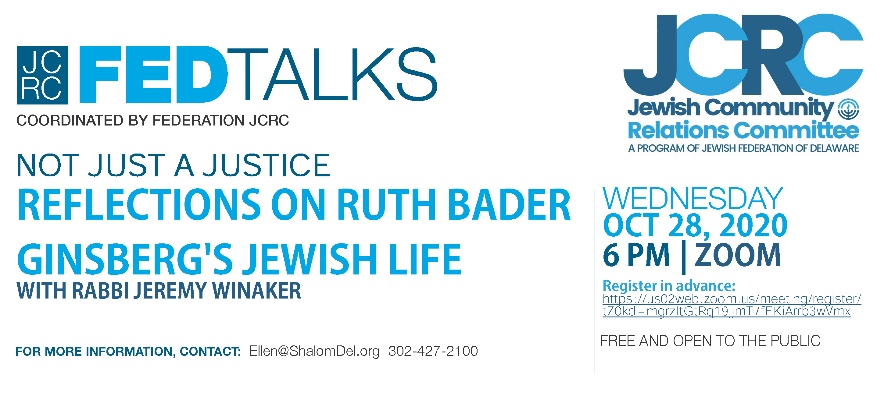 Not Just a Justice: Reflections on RBG's Jewish Life