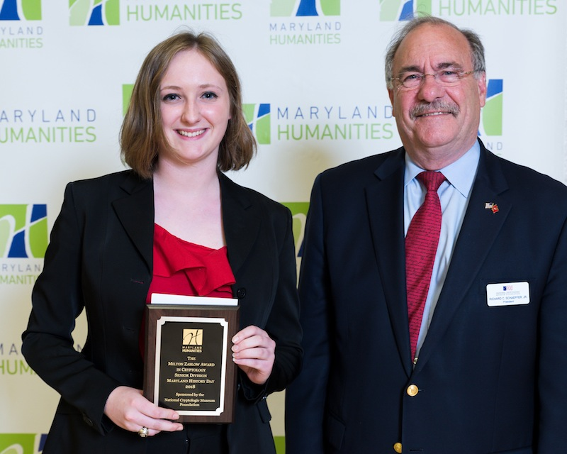 Emily Rand, 2018 Senior Division Winner with NCMF President Dick Schaeffer