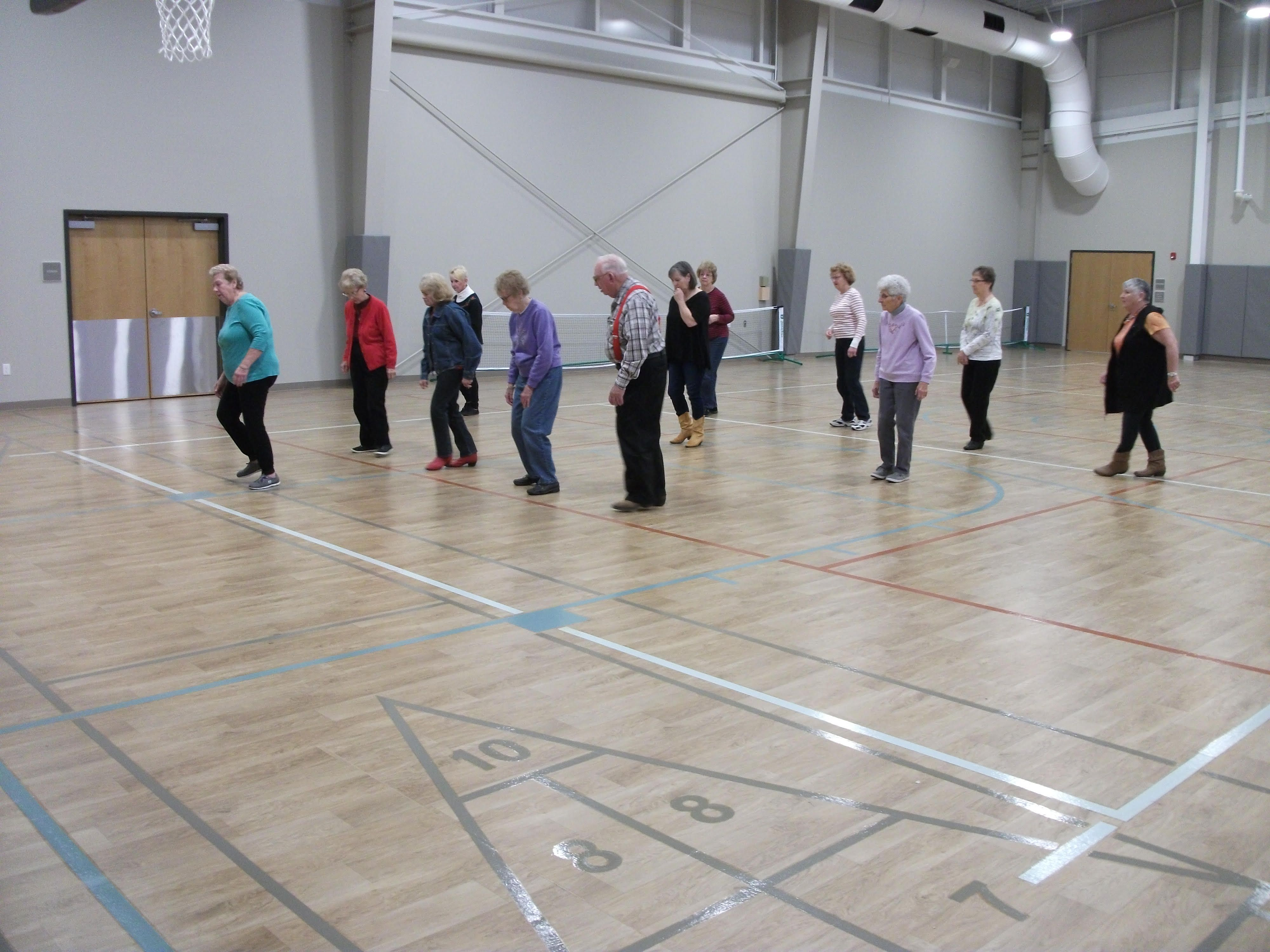 Line dancing exercise