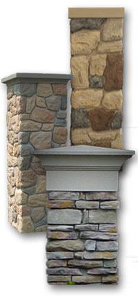 M6905 - Stone-Faced Pillars