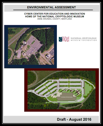 August 2016 Draft - Environmental Assessment (EA) for CCEI - Home of New National Cryptologic Museum
