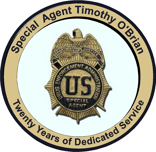 U30376 - Drug Enforcement Administration (DEA)  Special Agent Badge Personalized Wall Plaque