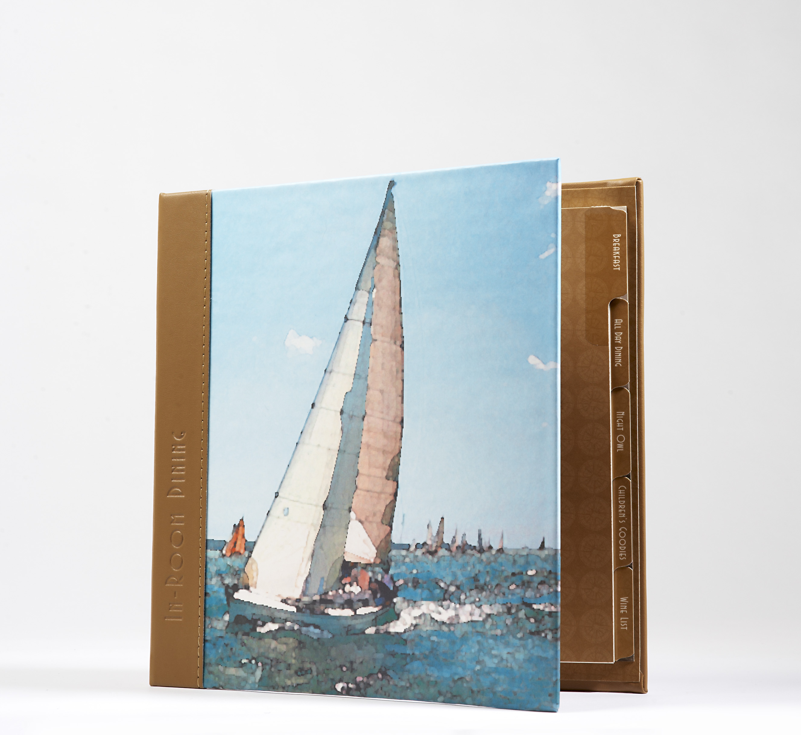 In Room Dining - Sailboat with Leather spine