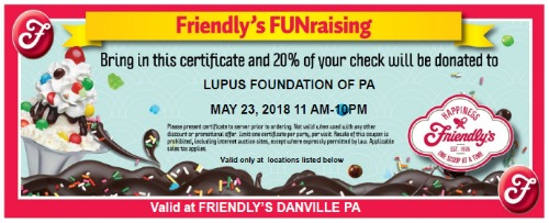 Friendly's Fundraiser - Danville