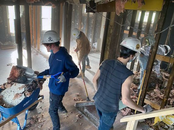 A Clark County dropout recovery school and Habitat for Humanity of Greater Dayton are partnering on a Springfield project that highlights the far-reaching community impact of volunteerism as nonprofits celebrate National Volunteer Appreciation Week.