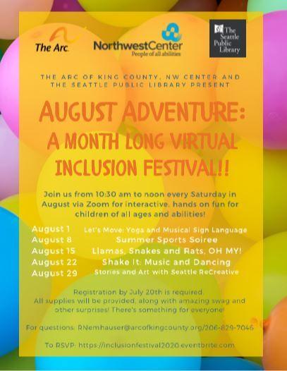A Month Long Virtual Inclusion Festival: Shake It