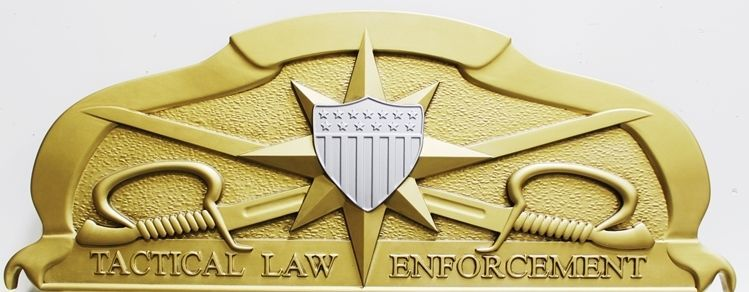 MP-1712  - Carved 3-D Plaque of the Insignia  of Tactical Law Enforcement,  US Army
