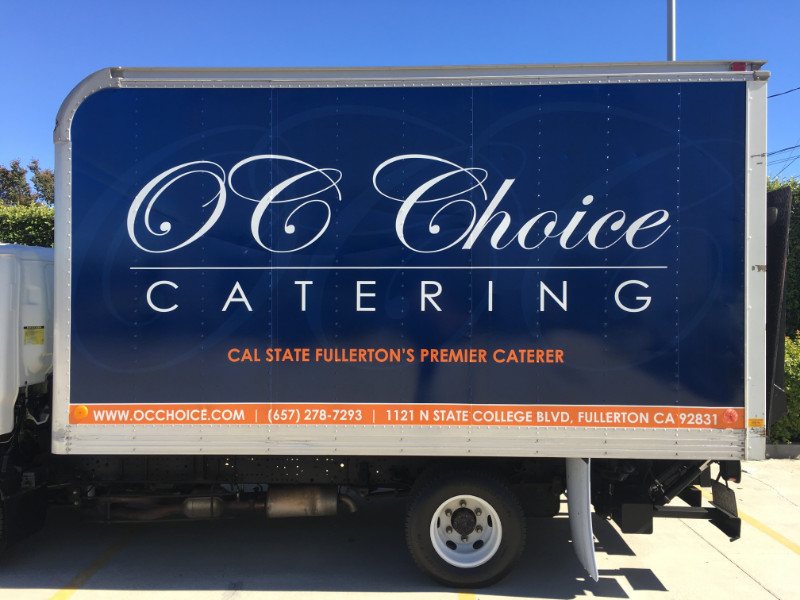 Truck Graphics for Catering Companies Orange County CA