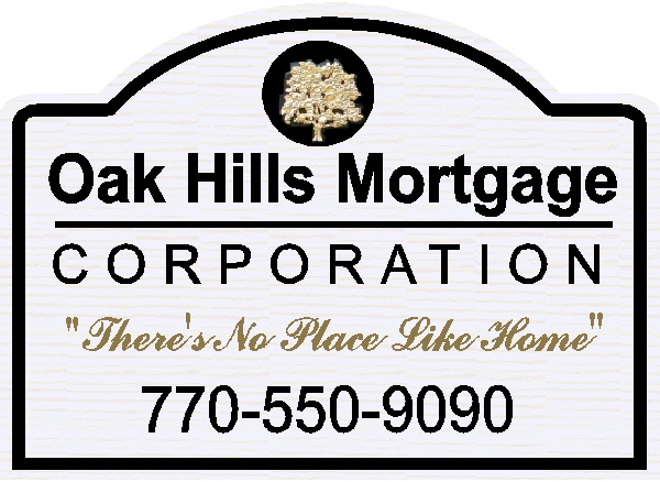 C12218- Mortgage Company Entrance Sign