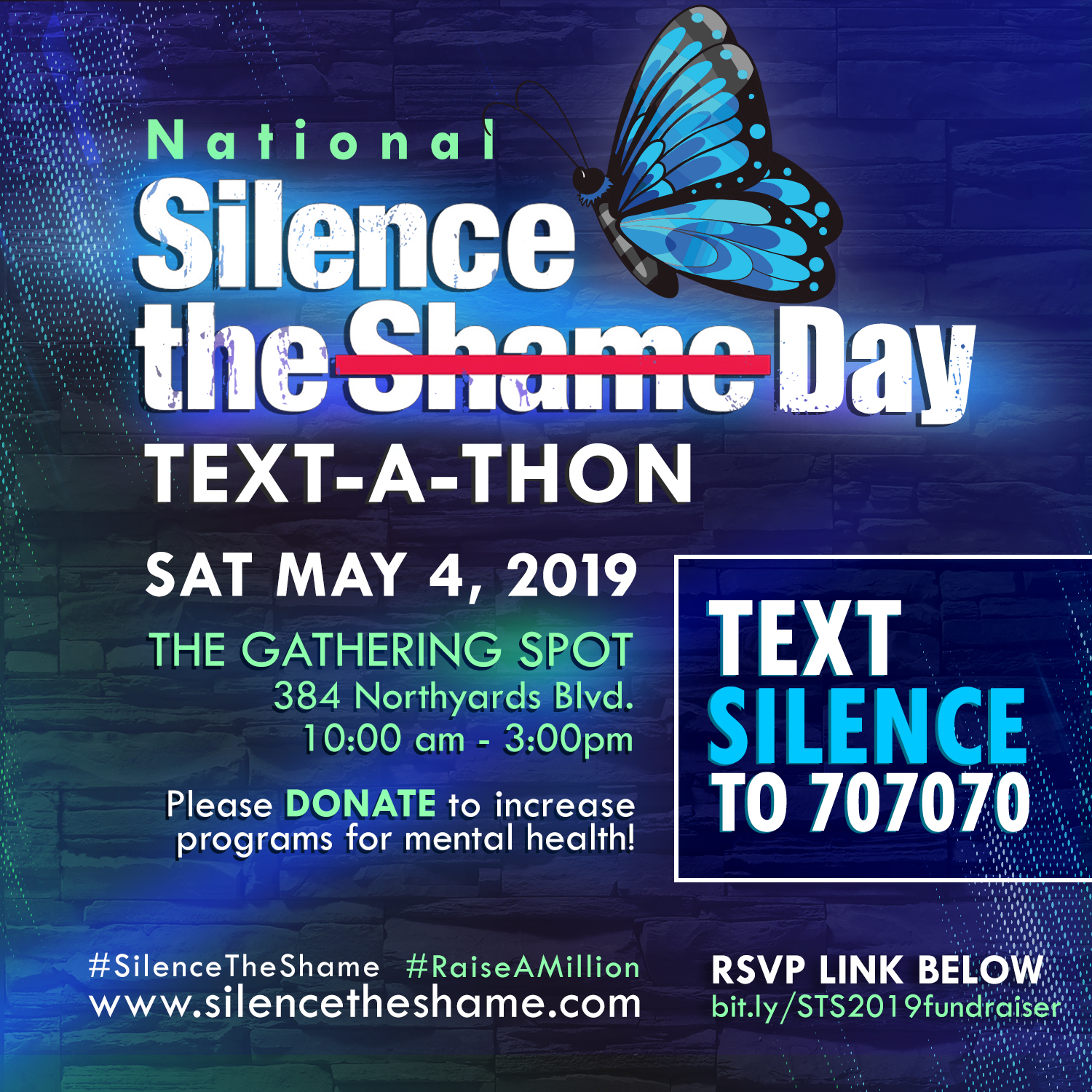 Silence the Shame Text-A-Thon Fundraiser