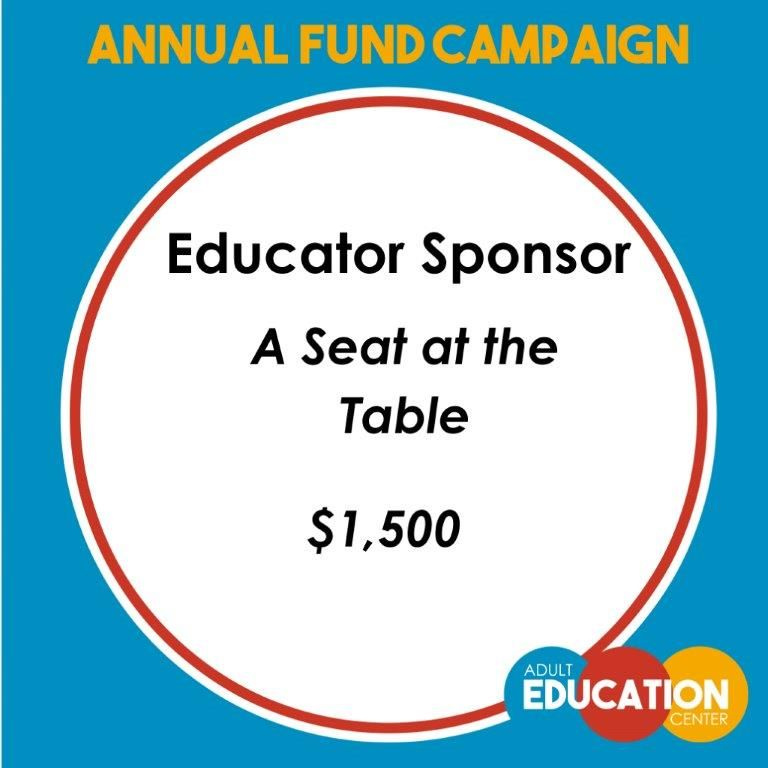 Seat At The Table Educator Sponsor - $1,500
