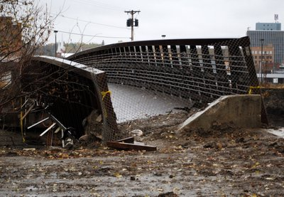 Broken Bridge Minot flood