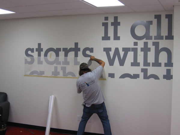 Vinyl Graphics Installation