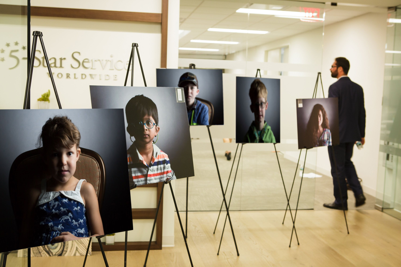 Usher Syndrome Society Exhibit at Monash Hospital in Australia