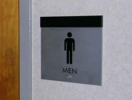 ADA-Braille sign restroom