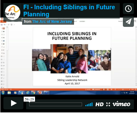 Webinar: Including Siblings in Future Planning