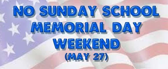Memorial Day Sunday School