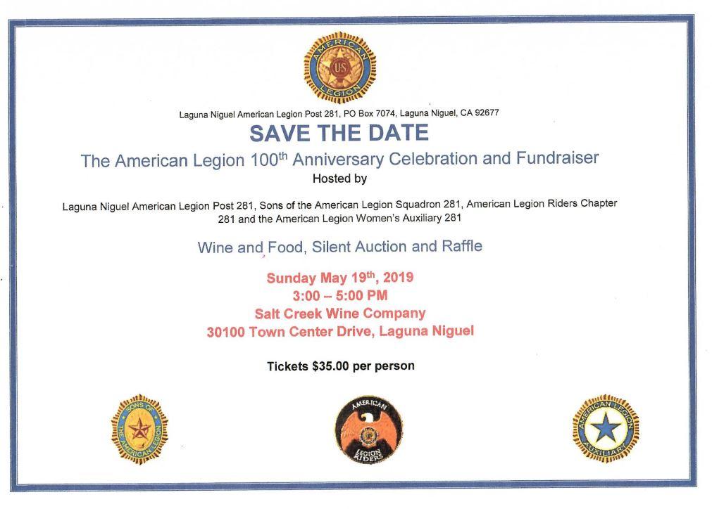 American Legion 100th Anniversary Celebration & Fundraiser