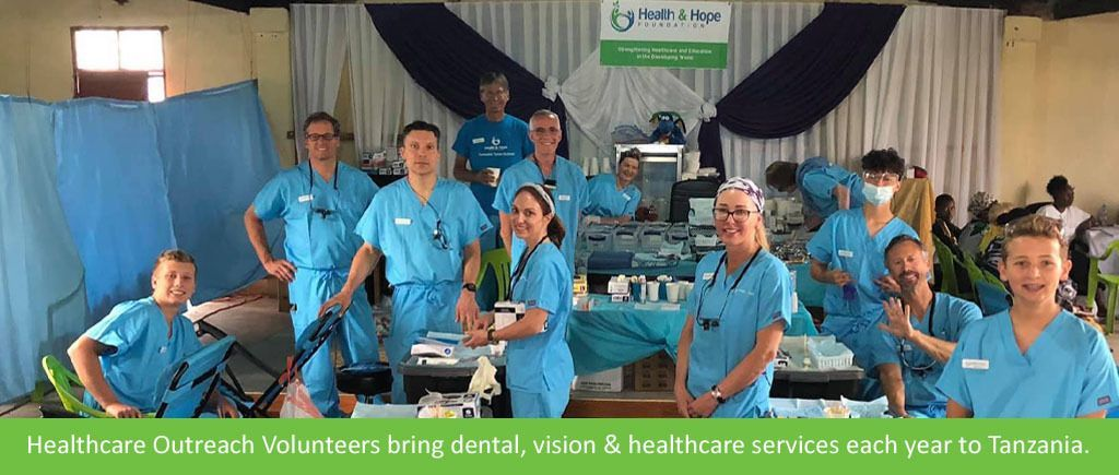 Group of people in scrubs working in healthcare.
