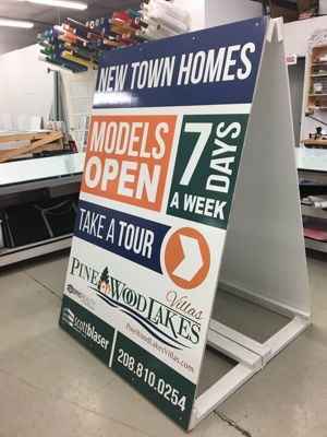 extra large wood a-frame sign