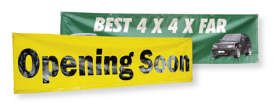 vinyl banners, banners with grommets, toronto vinyl banner printing