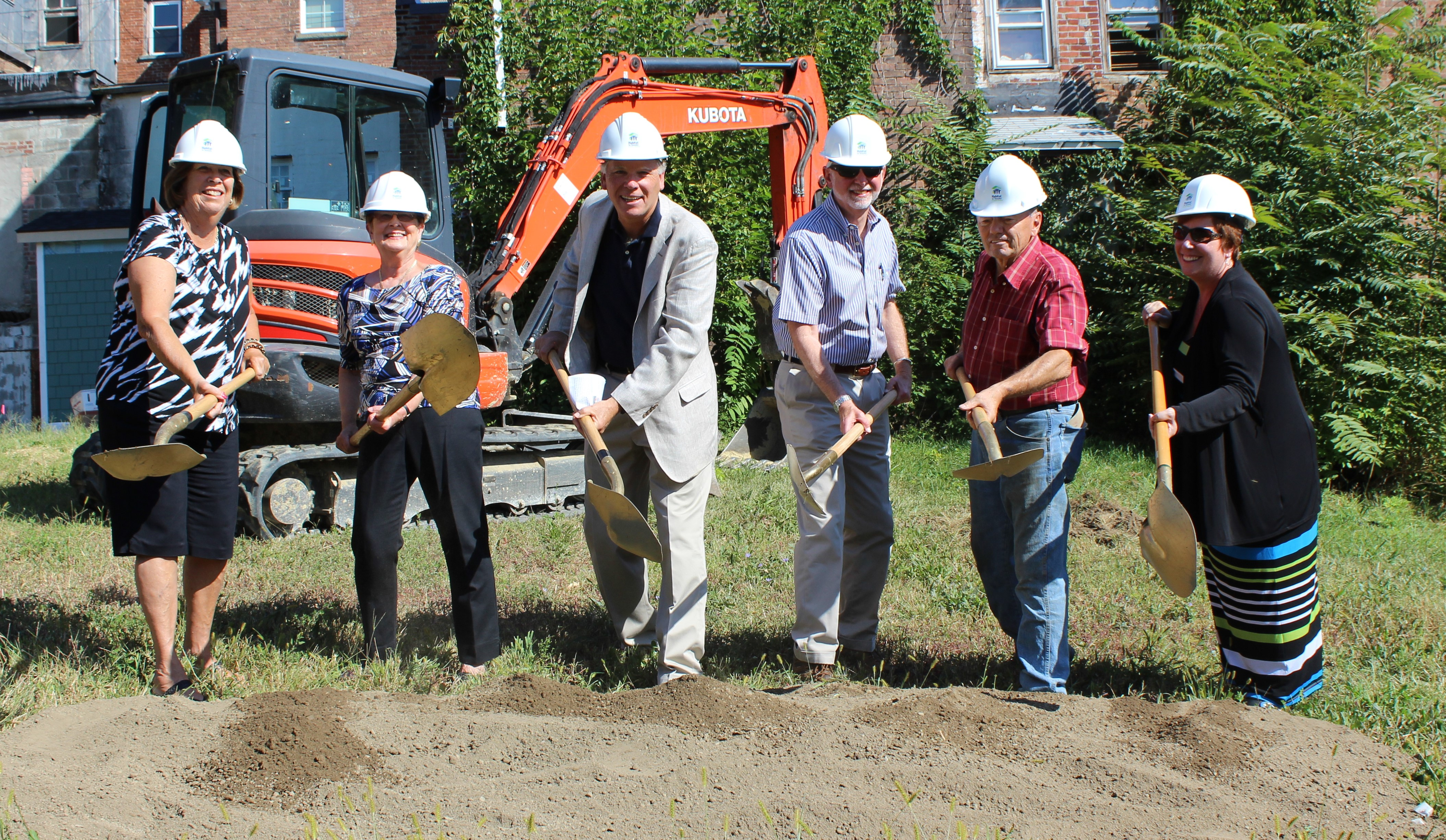 Breaking Ground on Four New Habitat Homes Faith Builds II: 150, 152, 154, & 156 Ann Street