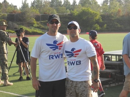 Senior Chief Joe Molina and Blayne Smith, Team RWB Executive